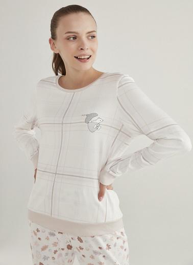 Penti Pijama Üst Beyaz